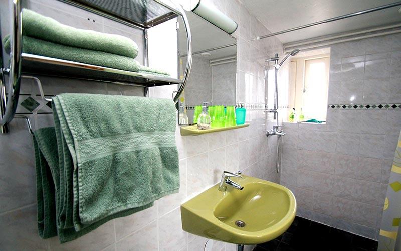 Groene kamer, eigen douche
