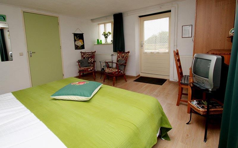 Groene kamer B&B de Woldstee Groningen