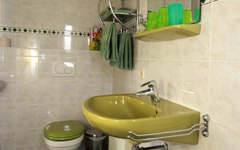 Groene kamer, eigen toilet.